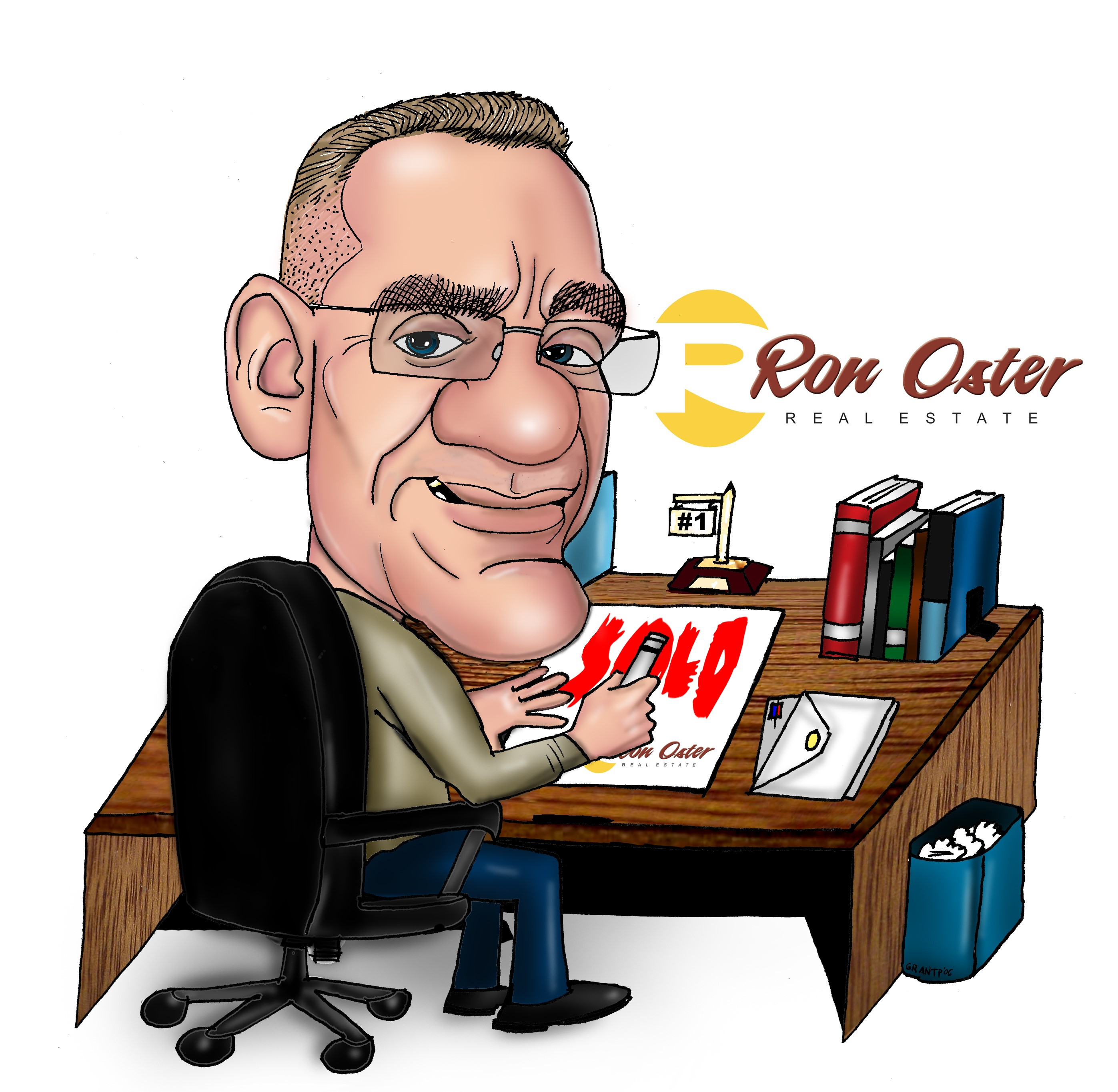 Ron Oster Caricature